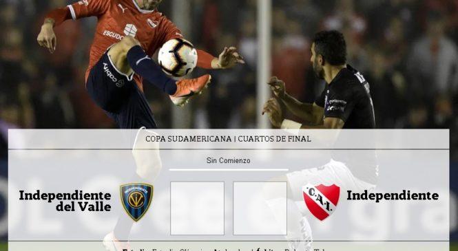 No te pierdas el partido: Independiente-Independiente Del Valle, Copa Sudamericana: horario, TV y formaciones