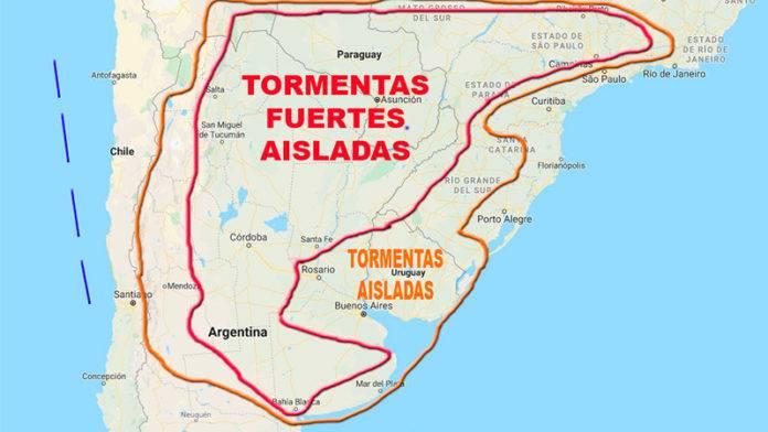 Alerta por tormentas que afectarían a varias provincias y zonas de Entre Ríos