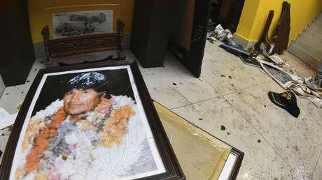 Descontrol en Bolivia: saquearon la casa de Evo Morales e incendiaron las de dirigentes opositores y periodistas video