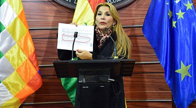 La titular del Senado de Bolivia se autoproclamó presidenta del país