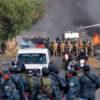 represión en marcha a favor de Evo Morales