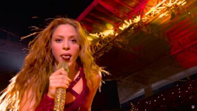 El mundo habla del gesto que hizo Shakira en el Super Bowl