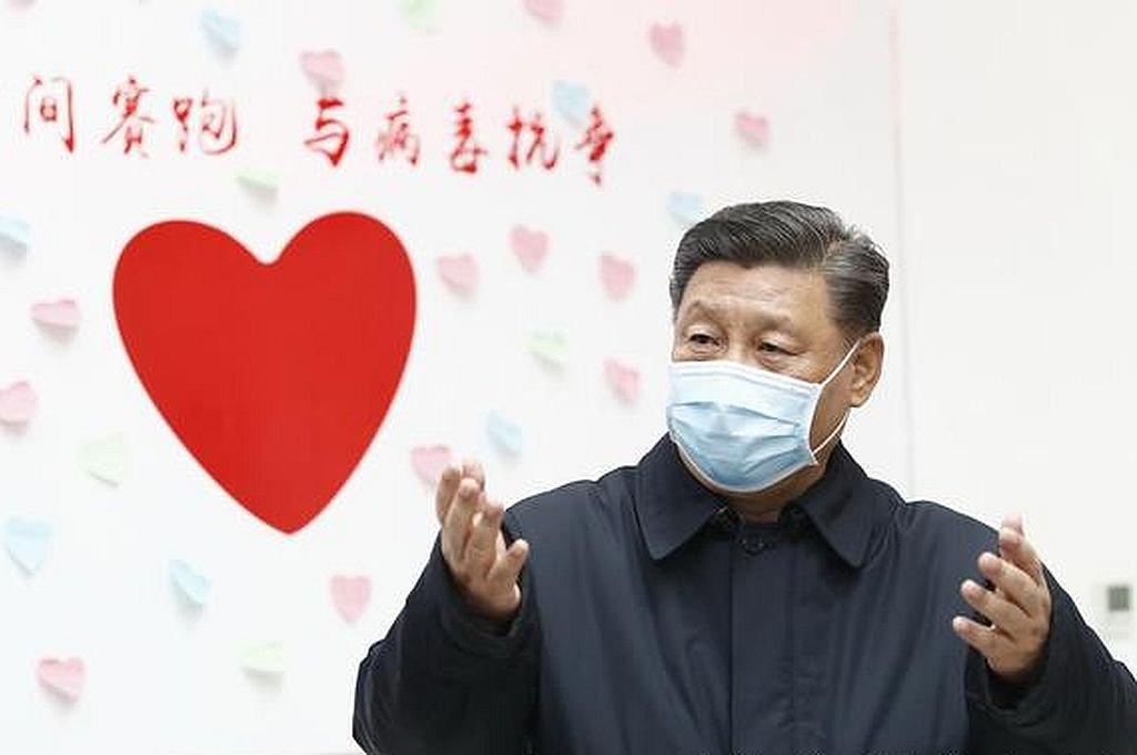 Presidente chino apareció por primera vez en público con barbijo