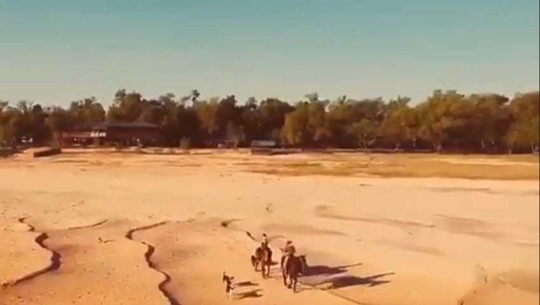 Cruzaron el río Paraná a caballo debido la histórica bajante