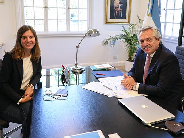 Fernández puso en funciones como titular de ANSES a María Fernanda Raverta
