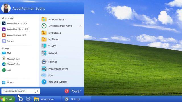 Windows XP 2021 muestra cómo podría ser un Windows 10 más atractivo