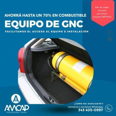 AHORA por medio de A.M.E.I.A.F.A.S podes instalar el equipo de GNC a tu vehículo y solucionar tu situación de Deuda con MUPER